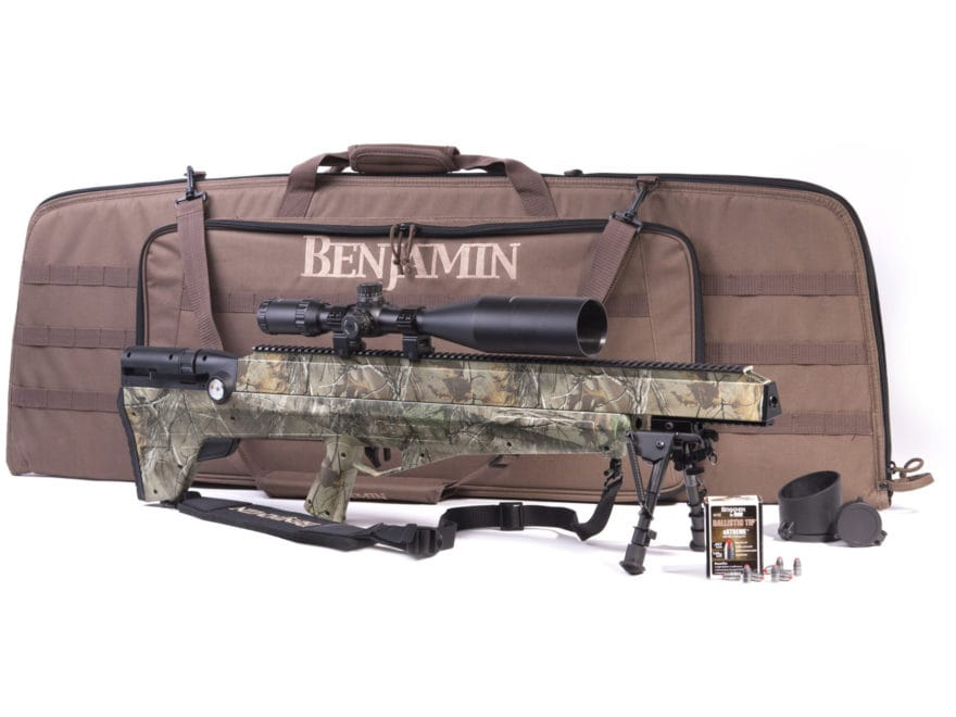 Benjamin Bulldog Bolt Action Air Rifle 357 Caliber Pellet Synthetic Stock Matte Barrel ...