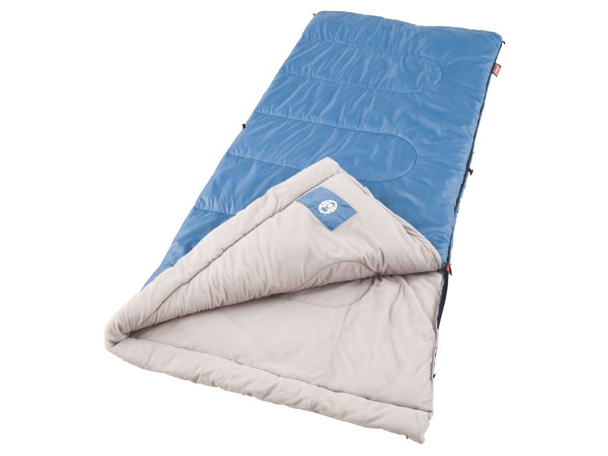 Coleman Sun Ridge 46-60 Degree Sleeping Bag Polyester Blue