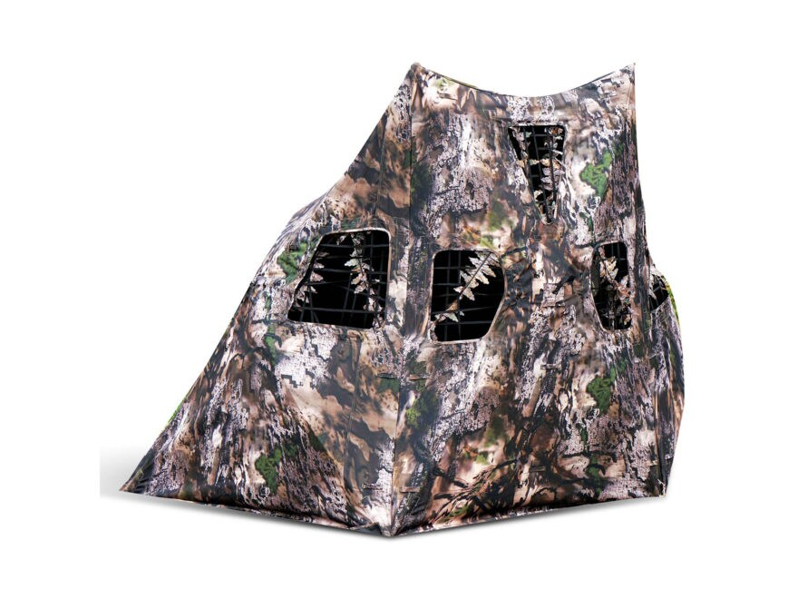 NAP Mantis 3-Hub Ground Blind Polyester Wicked Intent Camo