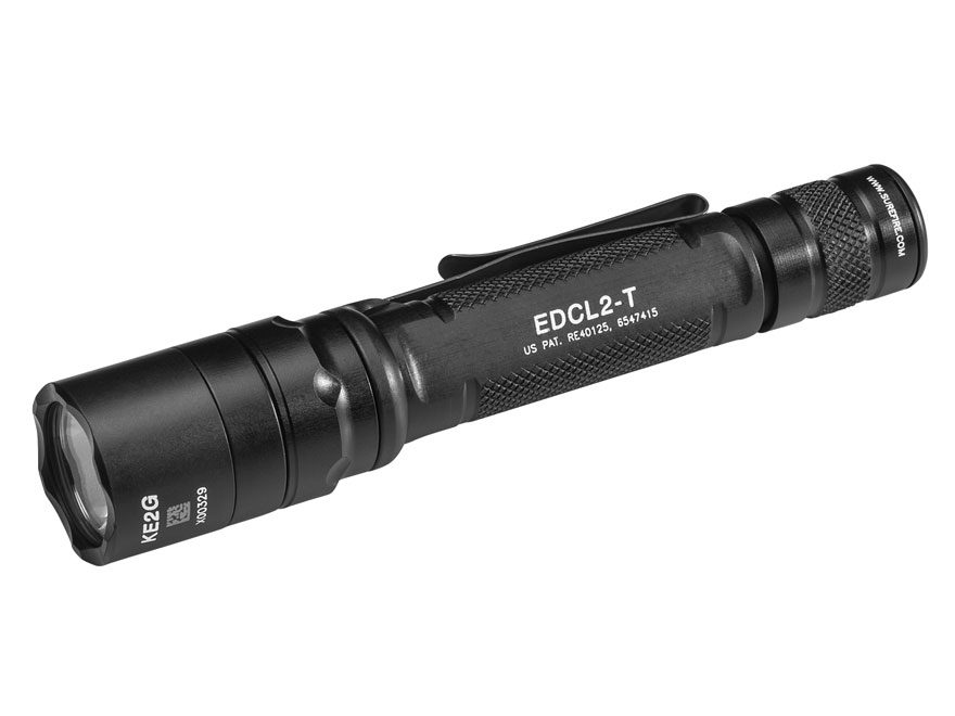 Surefire Everyday Carry Light 2 Flashlight LED with 2 CR123A Batteries Aluminum Black