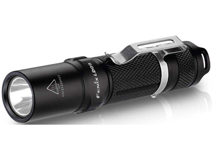 Fenix LD09 Flashlight LED with 1 AA Battery Aluminum Black