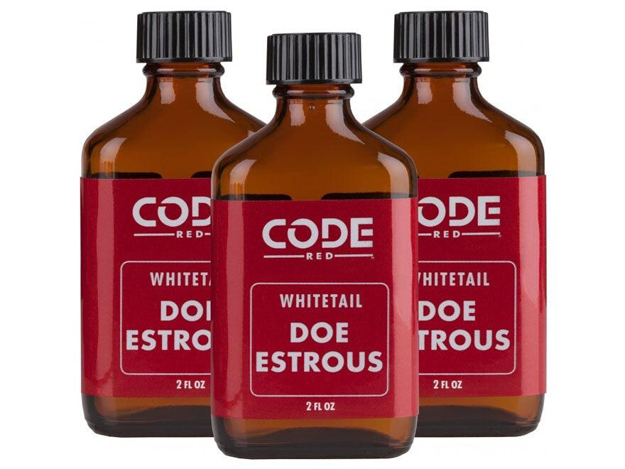 Code Red Doe Estrous Urine 3-Pack Combo Deer Scent Liquid