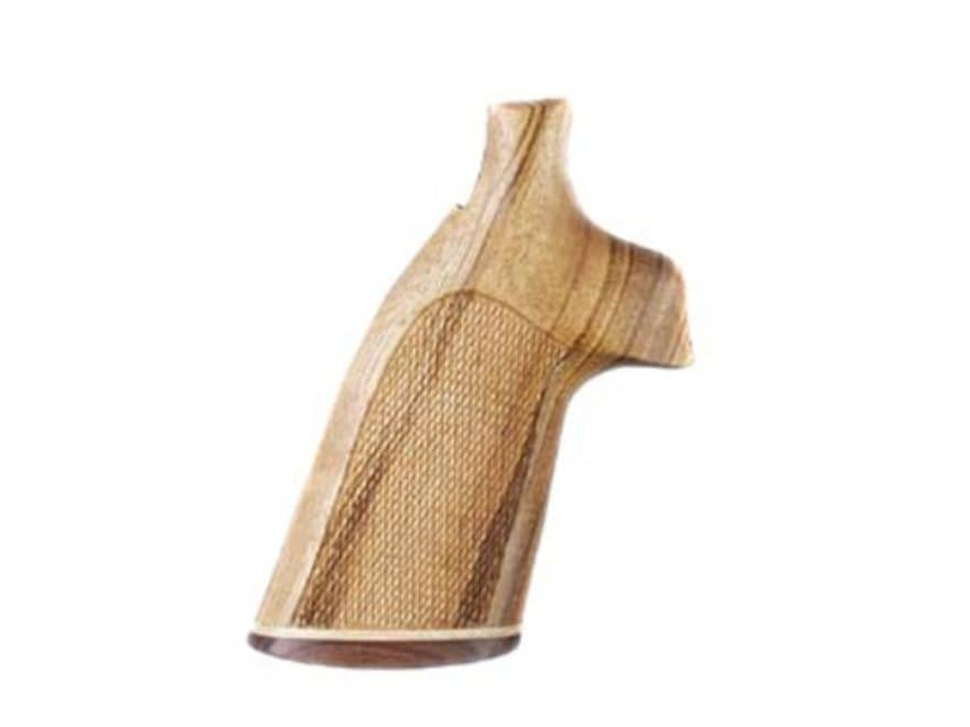 Hogue Fancy Hardwood Grips with Accent Stripe Colt Anaconda, King Cobra Checkered Gonca...