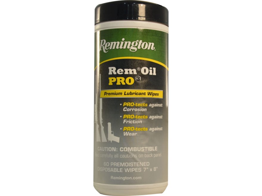 Remington Rem Oil PRO3 Premium Lubricant Gun Wipes Pack of 60