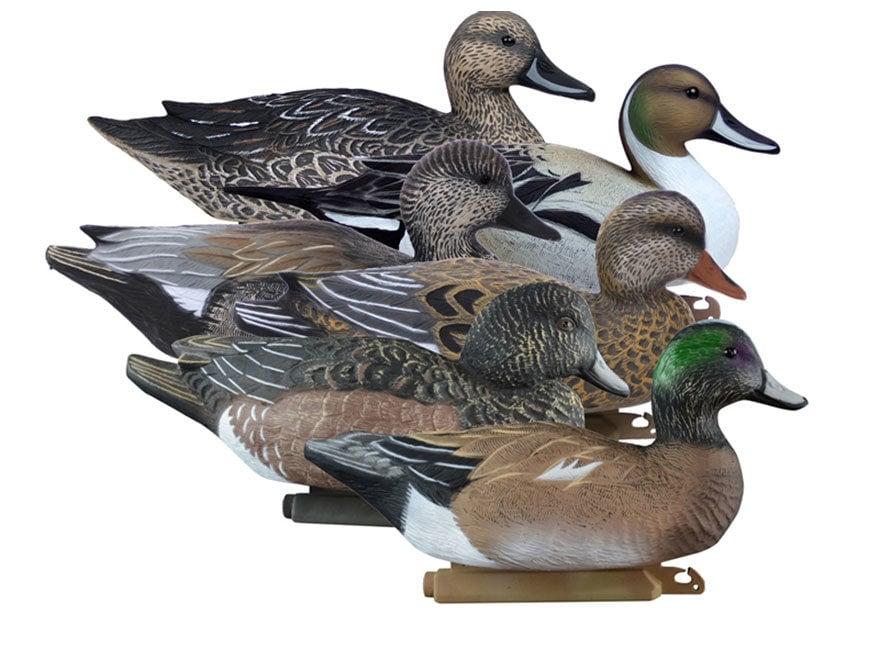 Higdon Battleship Puddle Pack Foam Filled Duck Decoy Combo Polymer Pack of 6