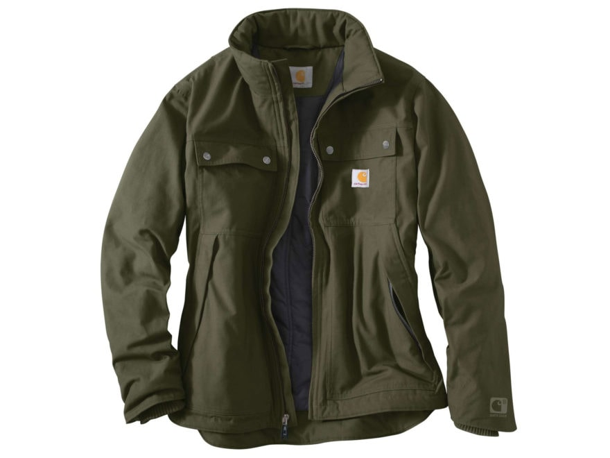 df2c86bdabc04 Carhartt Men's Quick Duck Jefferson Traditional Insulated Jacket  Cotton/Polyester Canva.