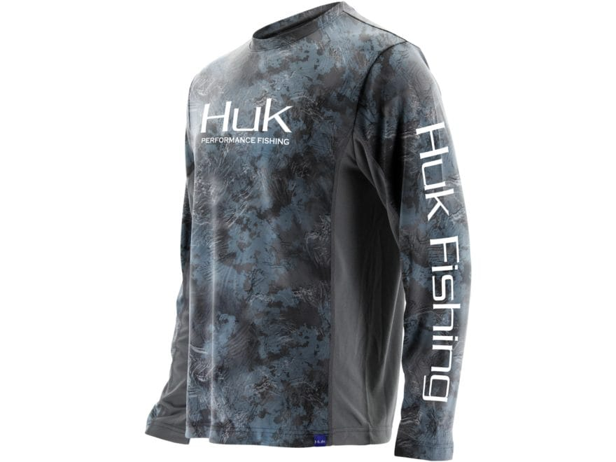 Huk Men's Icon X Camo Performance 1/4 Zip Shirt Long Sleeve Polyester/Spandex
