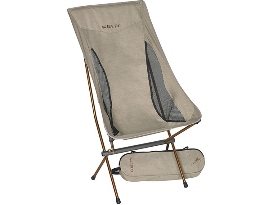 Kelty Linger High-Back Camp Chair Polyester and Aluminum Heathered Tundra/Copper