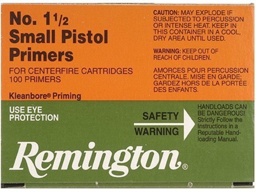 Remington Small Pistol Primers #1-1/2