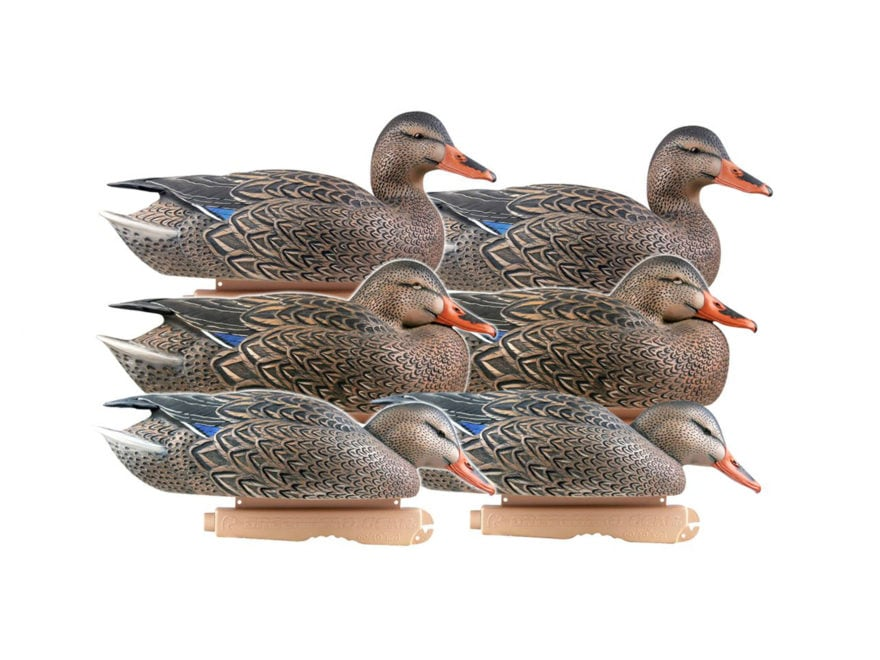 GHG Pro-Grade Early Season Hen Pack Mallard Duck Decoy Pack of 6