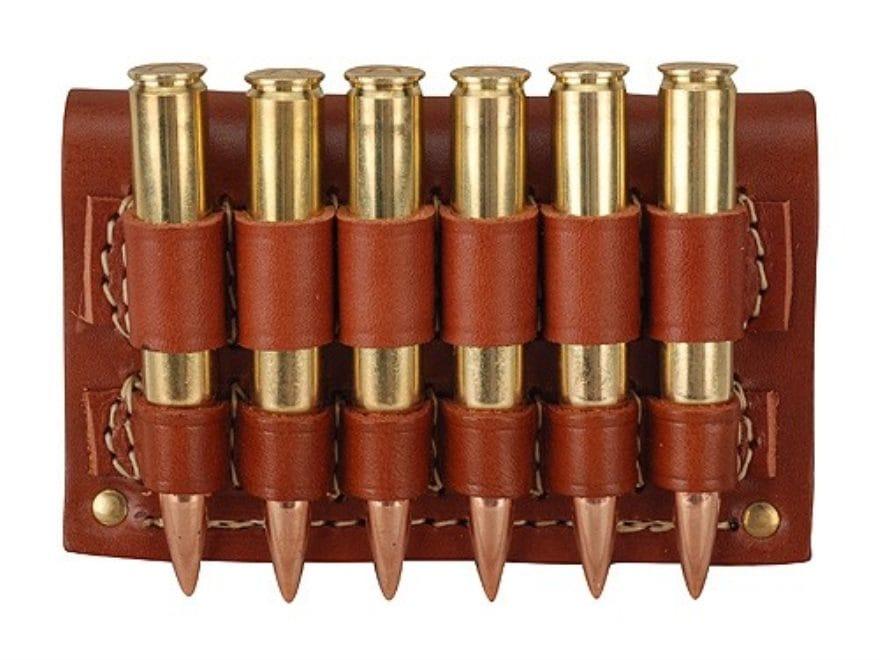 Hunter Cartridge Belt Slide Rifle Ammunition Carrier 30-06 Springfield Base 6-Round Lea...