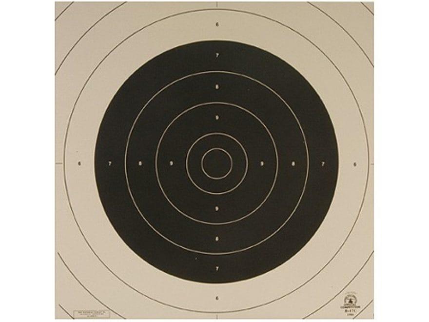 NRA Official International Pistol Targets Repair Center B-17C 25/50 Meter Slow Fire Pap...
