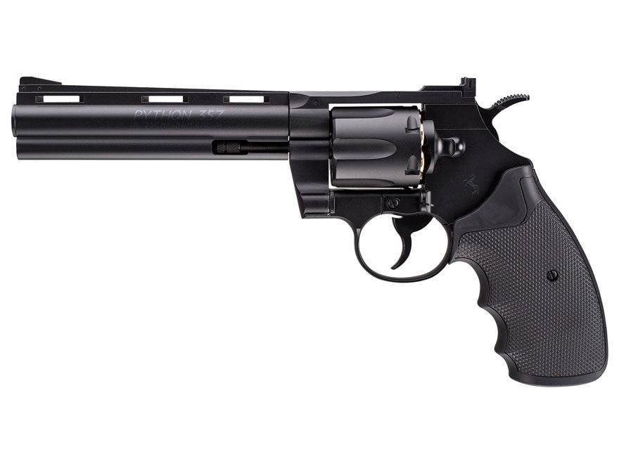 "Colt Python Steel Frame Air Pistol 6"" Barrel 177 Caliber BB Black"