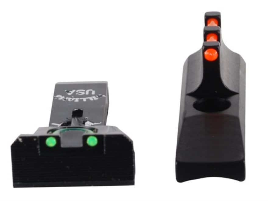 Williams Adjustable Fire Sight Set Browning Buckmark Aluminum Black Fiber Optic Red Fro...
