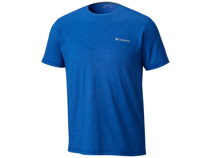 Columbia Men's Tech Trail Crew T-Shirt Short Sleeve Polyester/Elastane