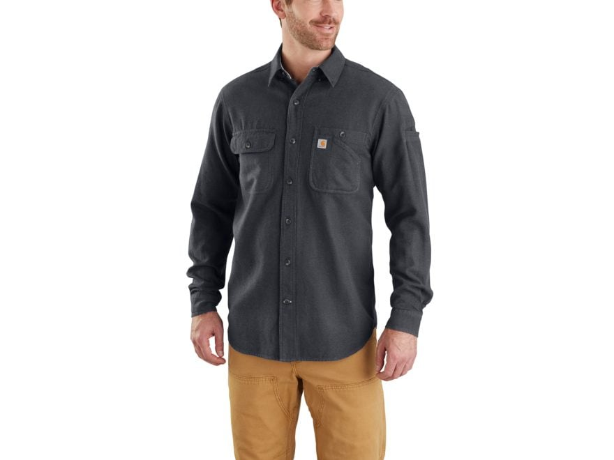 Carhartt Men's Beartooth Solid Button-Up Shirt Long Sleeve Cotton