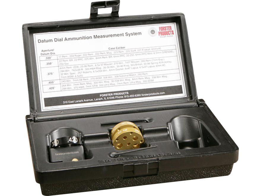 Forster Datum Dial Ammunition Measurement System Complete Kit  in Storage Box