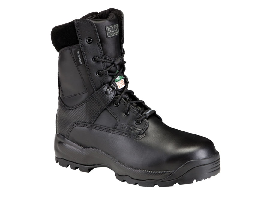 "5.11 ATAC 8"" Shield Tactical Boots Leather Black Men's"