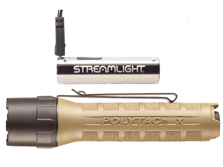 Streamlight PolyTac X USB Flashlight LED with Rechargeable 18650 Battery Polymer