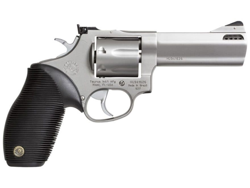 Taurus 627 Tracker Revolver 357 Magnum Ported Barrel 7-Round Stainless and Black Rubber