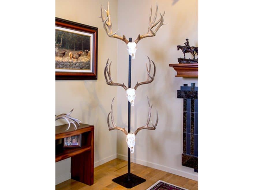 Skull Hooker Trophy Tree Display Steel Black