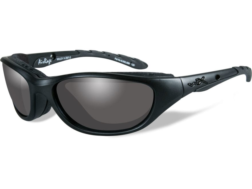 Wiley X Black Ops AirRage Sunglasses Matte Black Frame Smoke Gray Lens