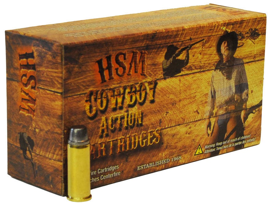 HSM Cowboy Action Ammunition 45 Colt (Long Colt) 250 Grain Hard Cast Lead Round Nose Fl...