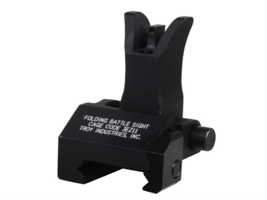 Troy Industries Front Flip-Up Battle Sight M4-Style with Tritium AR-15 Handguard Height...