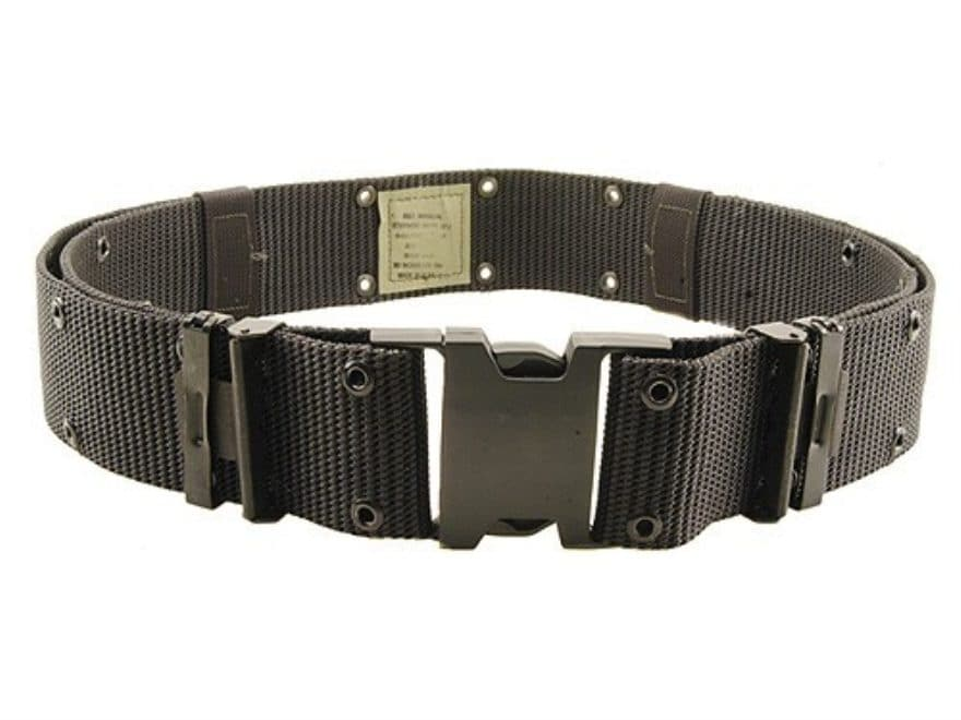 "Bianchi M1020 Military Web Pistol Belt 2-1/4"" Polymer Buckle Nylon Black"