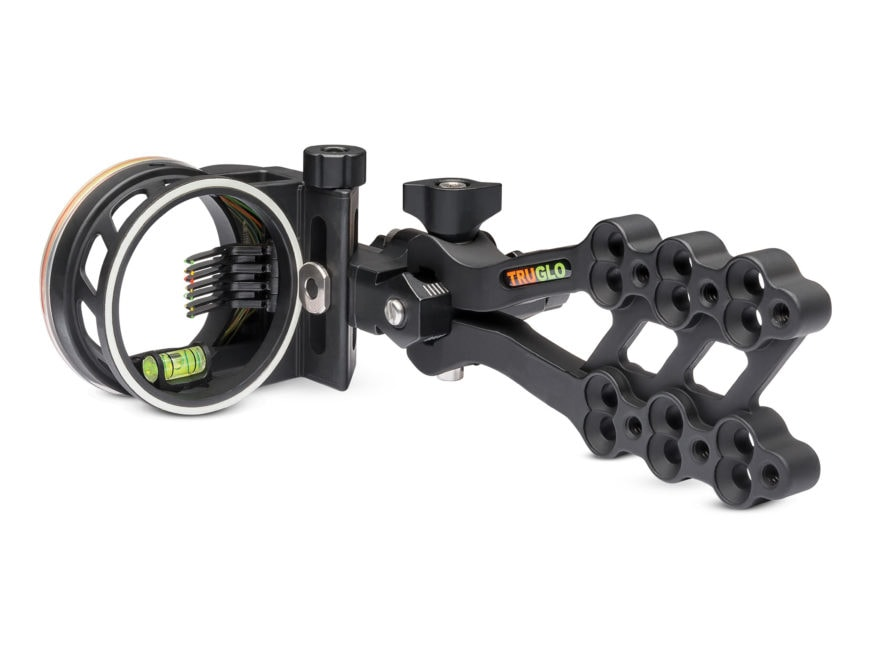 TRUGLO Hyper-Strike Bow Sight .019 and .010 Pin Diameter Aluminum Black