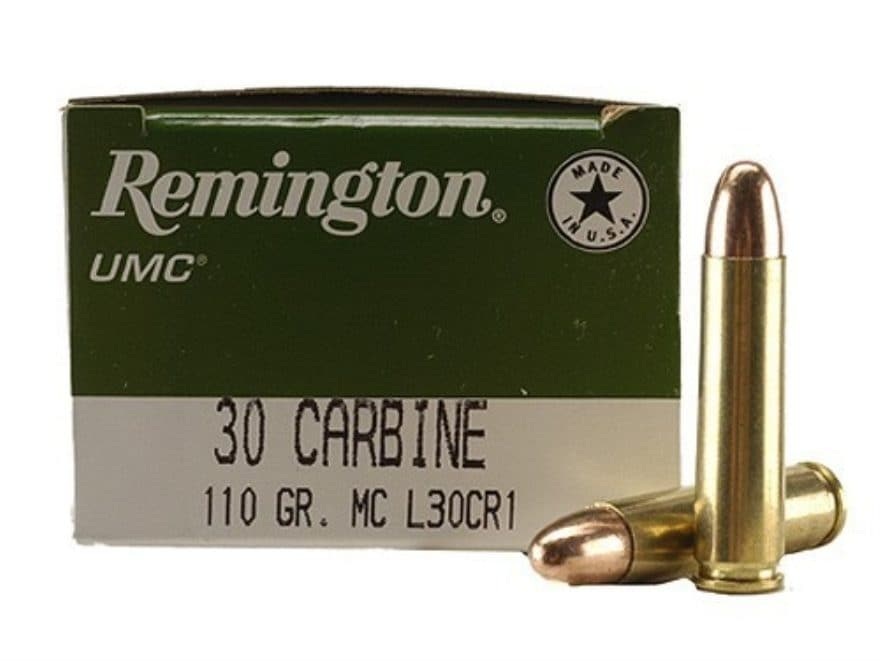 Remington UMC Ammunition 30 Carbine 110 Grain Full Metal Jacket