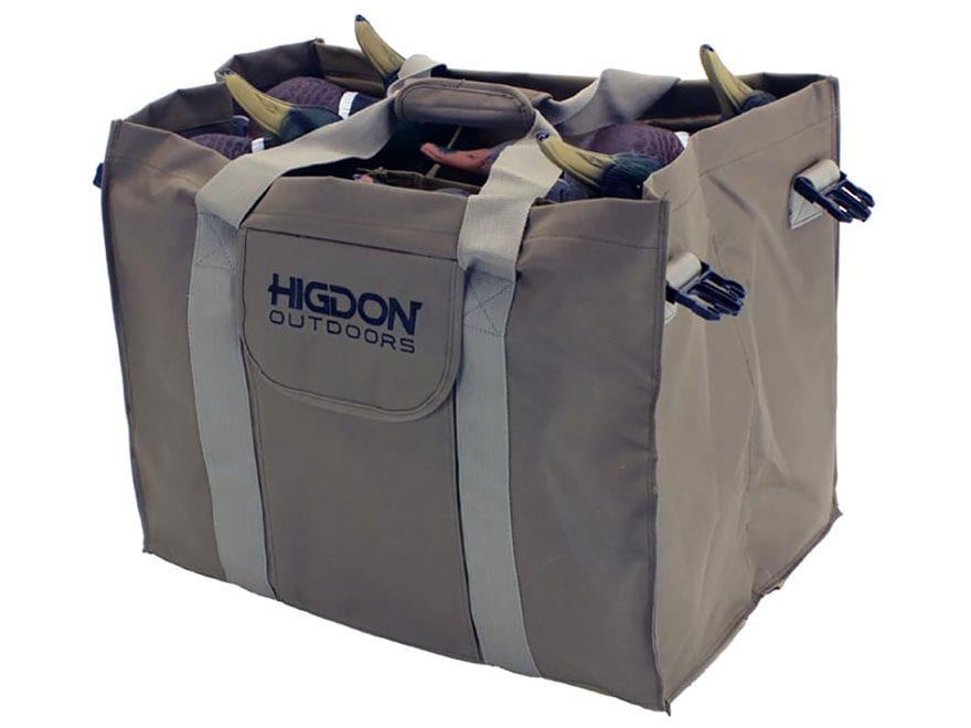 Higdon 6-Slot Duck Decoy Bag Polyester Brown