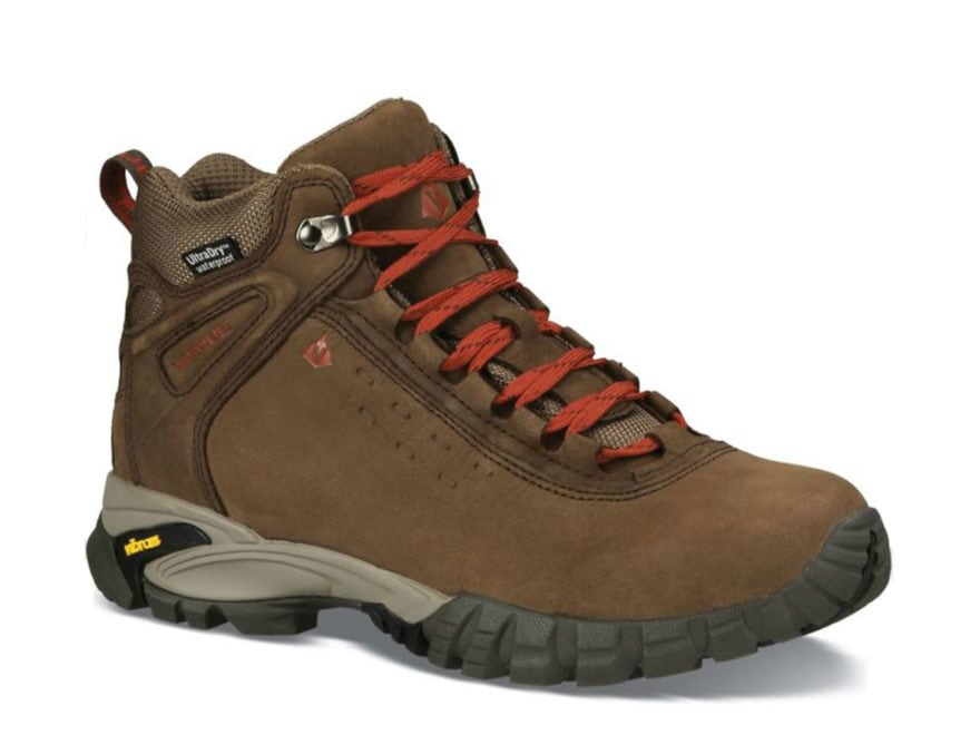 "Vasque Talus Ultradry 5"" Waterproof Hiking Boots Leather Turkish Coffee and Chili Peppe..."
