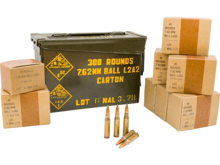 military surplus malaysian ammo 7 62x51mm 146 grain mpn a900 300