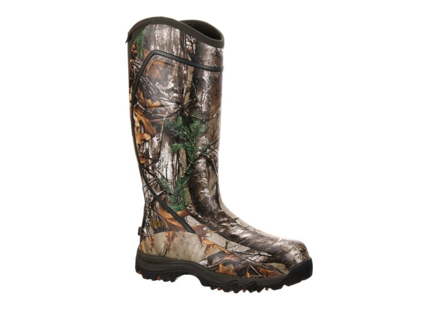 "Rocky Core 16"" Waterproof 1600 Gram Insulated Hunting Boots Rubber Realtree Xtra Camo M..."