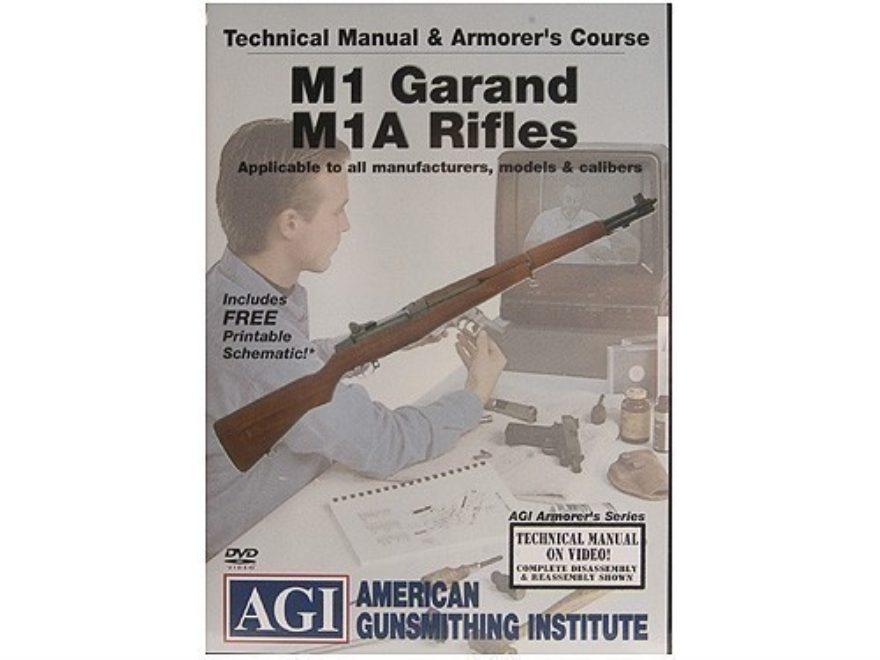 "American Gunsmithing Institute (AGI) Technical Manual & Armorer's Course Video ""M1 Gara..."
