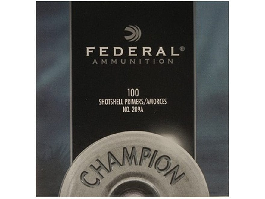 Federal Primers #209A Shotshell Box of 1000 (10 Trays of 100)