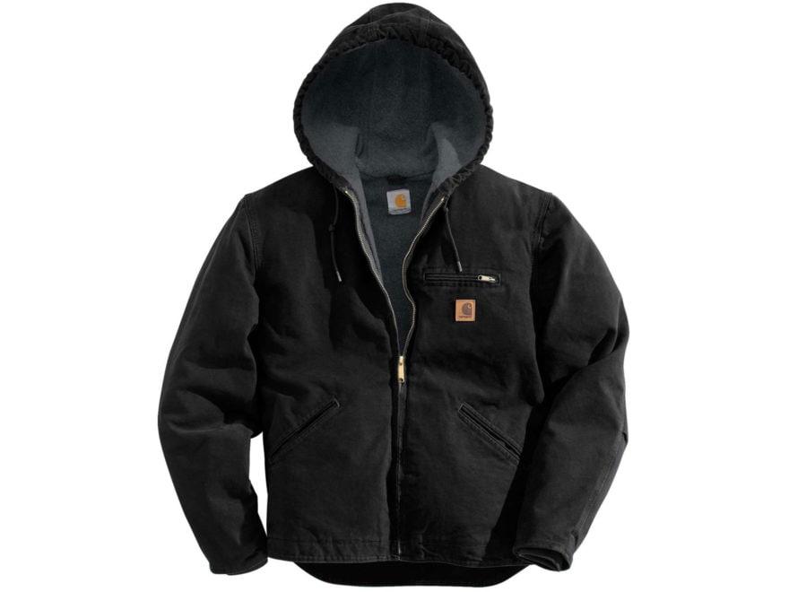 Carhartt Men's Sierra Sherpa-Lined Sandstone Hooded Jacket Cotton