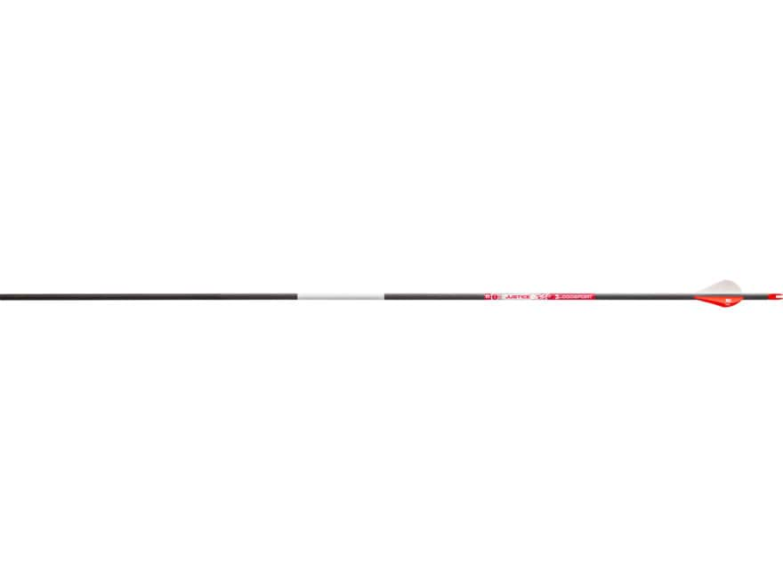 "Bloodsport Justice Carbon Arrow 2"" Vanes Black Pack of 6"