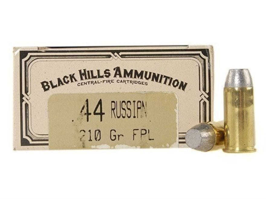 Black Hills Cowboy Action Ammunition 44 Russian 210 Grain Lead Flat Point Box of 50