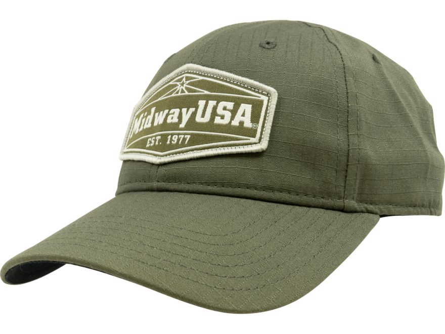 MidwayUSA Cap Ripstop Embroidered Logo Olive