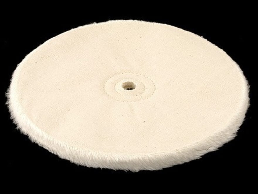 "Formax 8"" Diameter 1/4"" Thick Loose Cloth Buffing and Polishing Wheel With 5/8"" Arbor Hole"