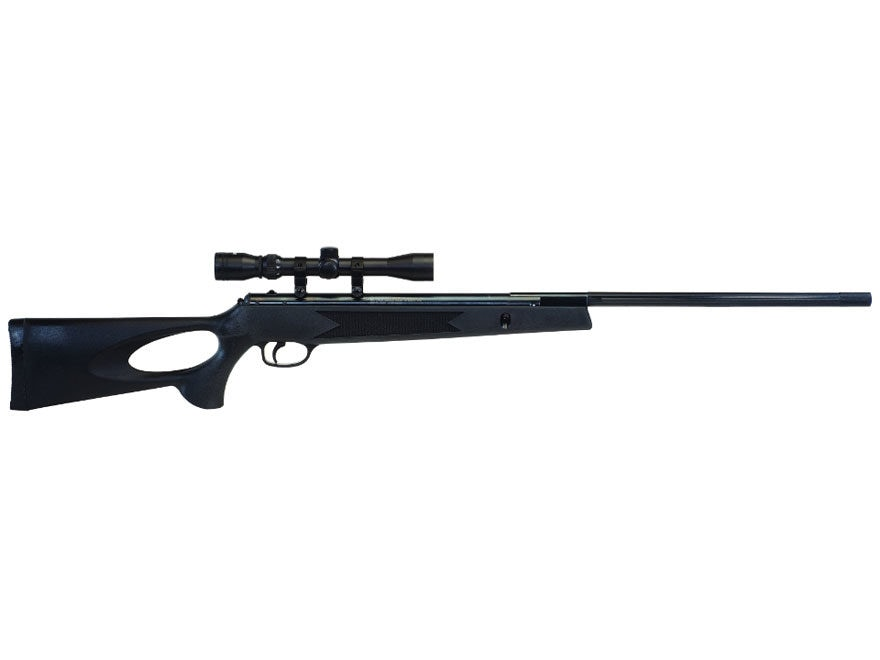 Winchester 1250 Air Rifle 177 Caliber Pellet Polymer Black Stock Blue Barrel with 3-9x ...