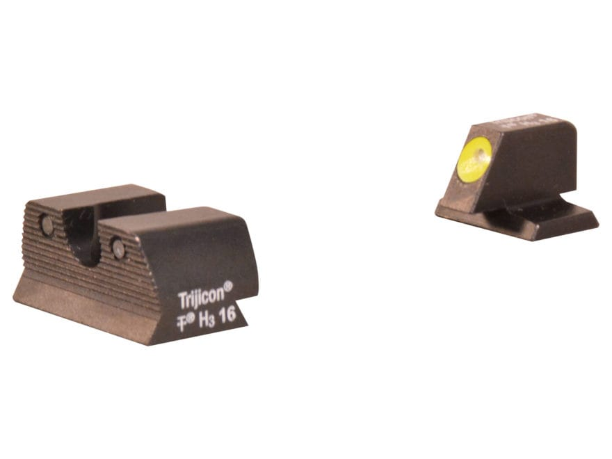 Trijicon HD Night Sight Set FN, FNX, FNS 9mm Luger Steel Matte 3-Dot Tritium Green with...