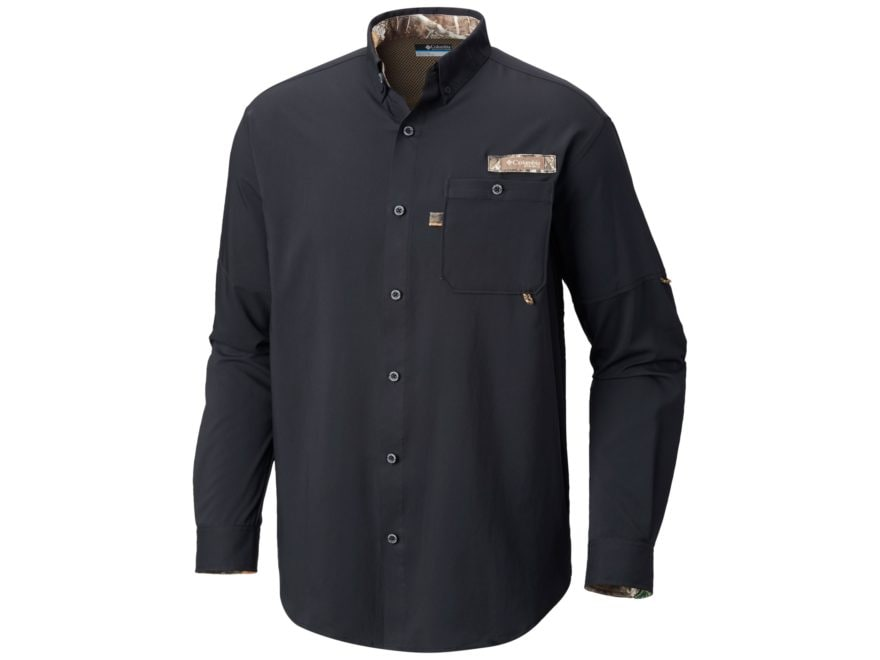 Columbia Men's PHG Bucktail Button-Up Shirt Long Sleeve Polyester