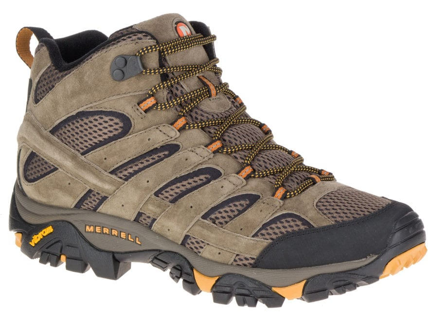 """Merrell Moab 2 Vent Mid 5"""" Hiking Boots Leather/Synthetic Men's"""
