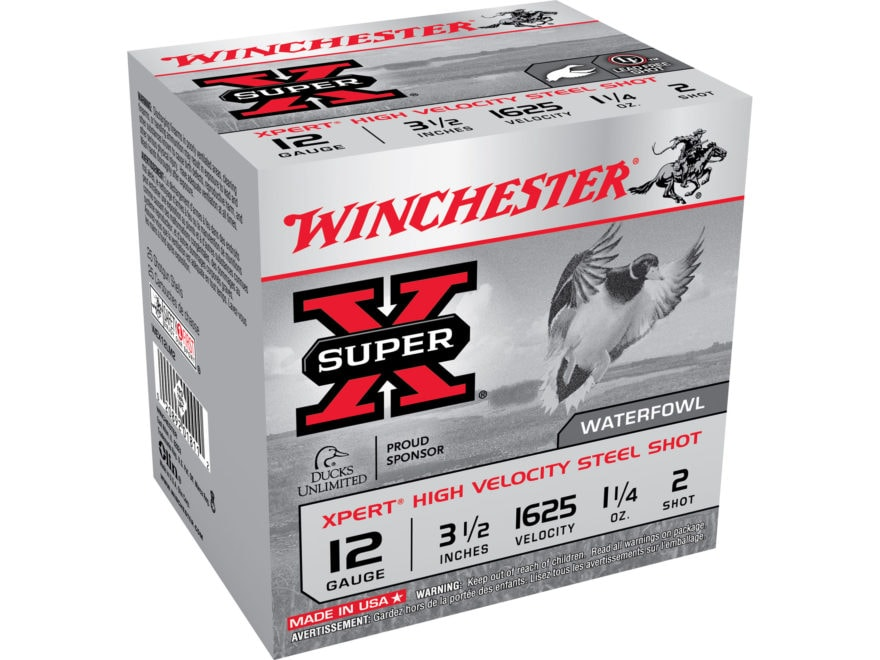"Winchester Xpert High Velocity Ammunition 12 Gauge 3-1/2"" 1-1/4oz #2 Non-Toxic Plated S..."