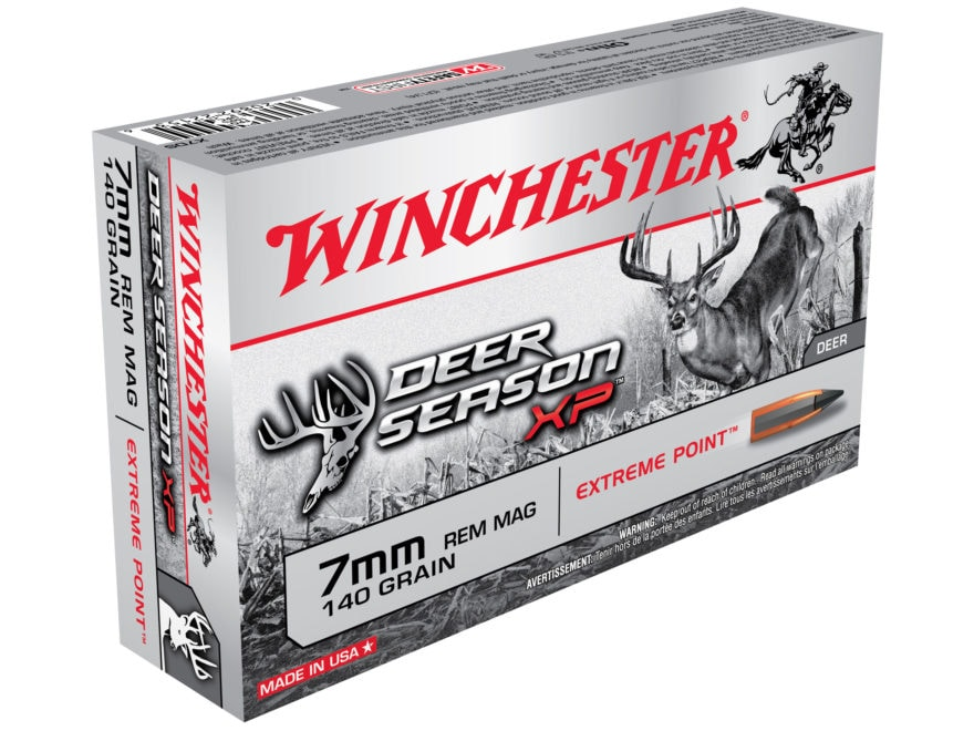 Winchester Deer Season XP Ammunition 7mm Remington Magnum 140 Grain Extreme Point Polym...