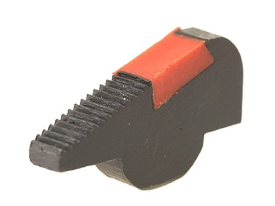 Smith & Wesson Revolver Pinned Front Sight Black Serrated Ramp with Red Ramp Insert .27...
