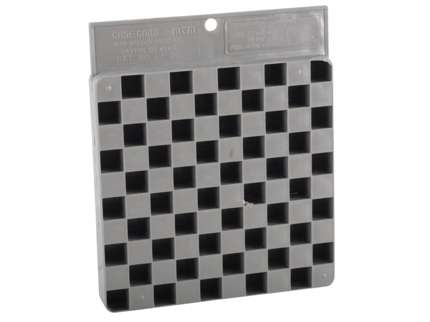 MTM Universal Reloading Tray Compact 50-Round Plastic Gray